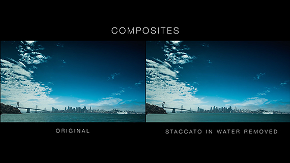 timelapse con y sin staccato